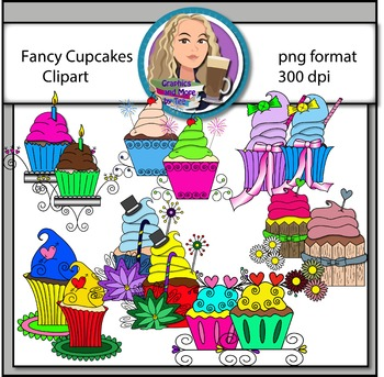 Fancy Cupcakes Clipart