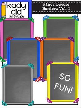Fancy Doodle Borders Vol. 1 {by Kady Did Doodles}