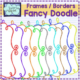 Fancy Doodle Frames - Border Clip Art (2 designs)