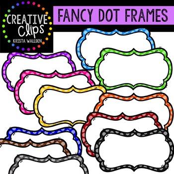Fancy Dot Frames {Creative Clips Digital Clipart}