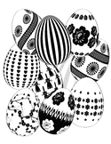 Fancy Easter Eggs - Coloring Page