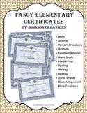 Fancy Elementary Certificates