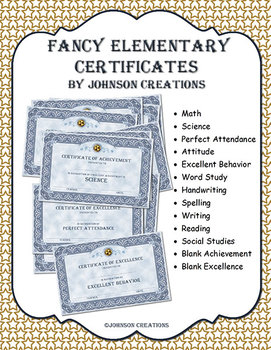 Fancy Elementary Certificates