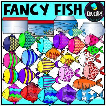 Fancy Fish Clip Art {Educlips Clipart}