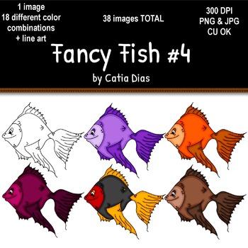 Fancy Fish Clip Art #4
