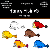 Fancy Fish Clip Art #5