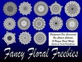 Fancy Floral Freebies! 13 Piece PNG Clipart Set-Stamps