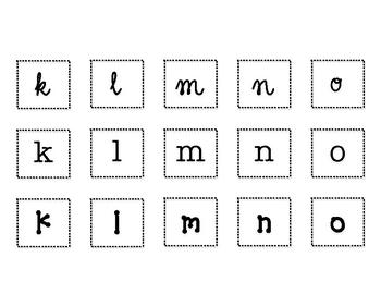 Fancy Font Letter Sort Literacy Center