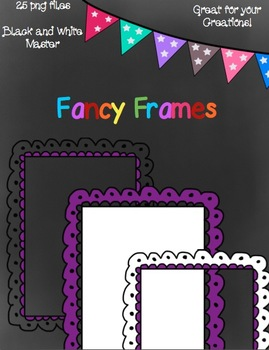 Fancy Frames- Black and White Master Included!