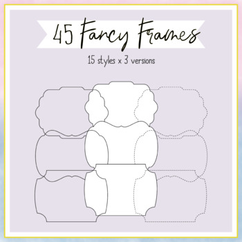 Fancy Frames Clipart for TPT Cover Pages