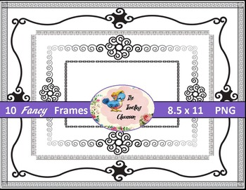 Borders Borders- Fancy Frames (Digital Borders for Commercial Use)