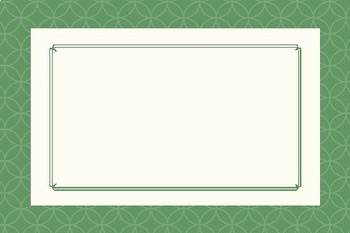 Fancy Green Blank Editable Labels Flashcards