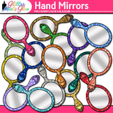 Hand Mirror Clip Art {Rainbow Glitter Looking Glasses, End