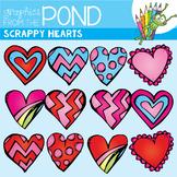 Scrappy Heart Clipart