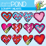 Scrappy Heart Clipart