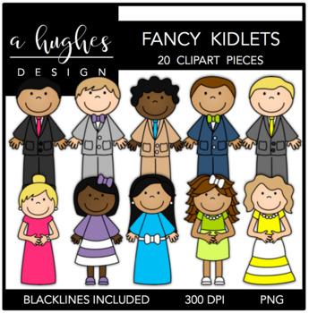 Fancy Kidlets Clipart {A Hughes Design}