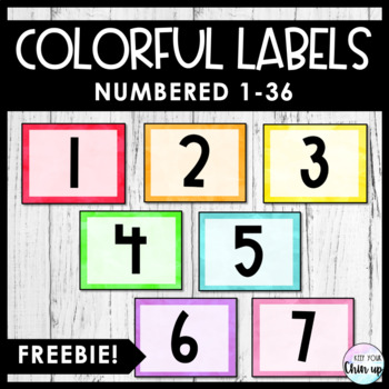Fancy Labels for Any Classroom!
