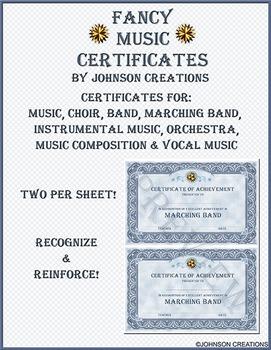 Fancy Music Certificates
