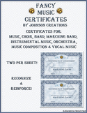 Fancy Music Certificates