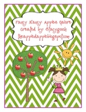Fancy Nancy Apples Galore Activity