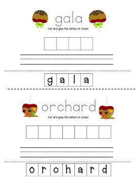 Fancy Nancy Apples Galore Spelling Booklet