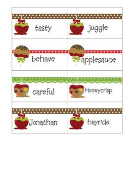 Fancy Nancy Apples Galore Vocabulary Words