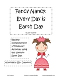 Fancy Nancy Every Day is Earth Day- book activities