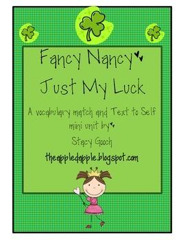 Fancy Nancy Just My Luck Vocabulary Match