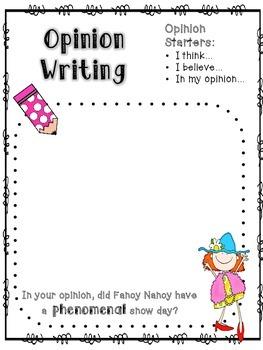 Fancy Nancy:  Snow Day Mini-Unit
