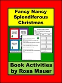 Fancy Nancy, Splendiferous Christmas Book Unit with Task Cards and Worksheet