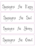 Fancy Nancy Vocabulary Centers (Adjectives and Synonyms)