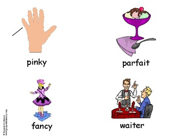 Fancy Nancy Vocabulary Picture Cards
