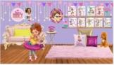 Fancy Nancy by Jane O'Connor Virtual Classroom Library-Editable!