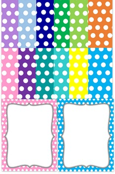 background templates fancy paper with polka dots by lovin education