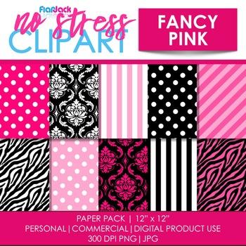 Fancy Pink Digital Papers