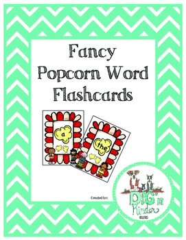 Fancy Popcorn Word Flashcards