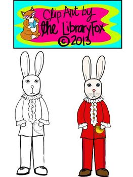 Fancy Rabbit Clip Art for Personal or Commercial Use