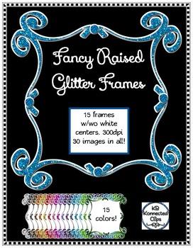 Fancy Raised Glitter Frames