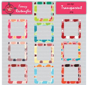 Fancy Rectangle Borders - Transparent