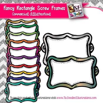 Fancy Rectangle Frame Clip Art