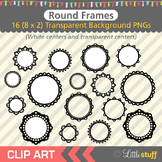 Fancy Round Frame Clipart, Round Frame Clip Art, Round Borders