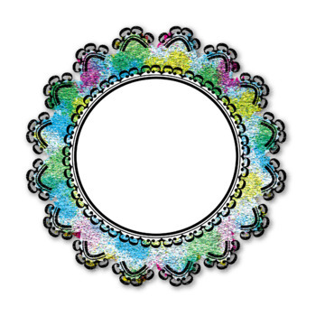 Fancy  Round Scalloped Frames for Personal and Commercial Use