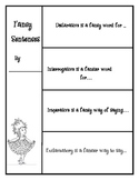 Fancy Sentences flip book
