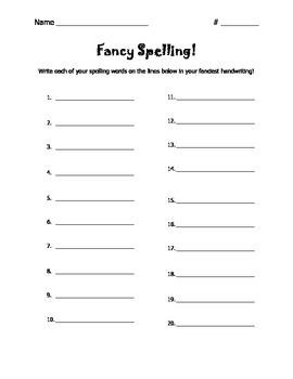 Fancy Spelling!