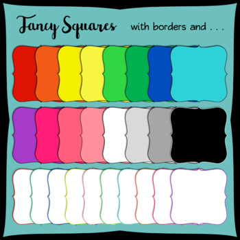 Fancy Squares Frames Clipart