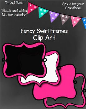 Fancy Swirl Frames- Black and White Master Included!