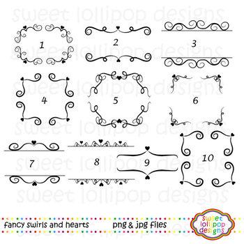 Fancy Swirls Digital Frame Clip Art - Clipart