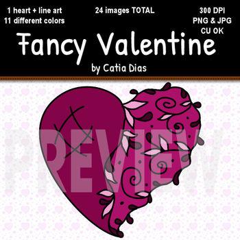 Fancy Valentine Clip Art