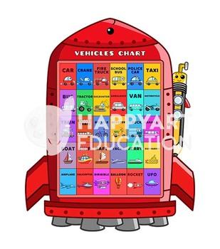 Fancy Vehicles Poster Chart - Rocket