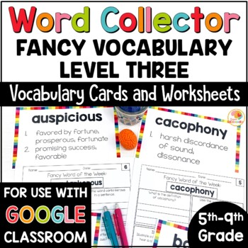 Fancy Vocabulary Words for 5th-9th Grade